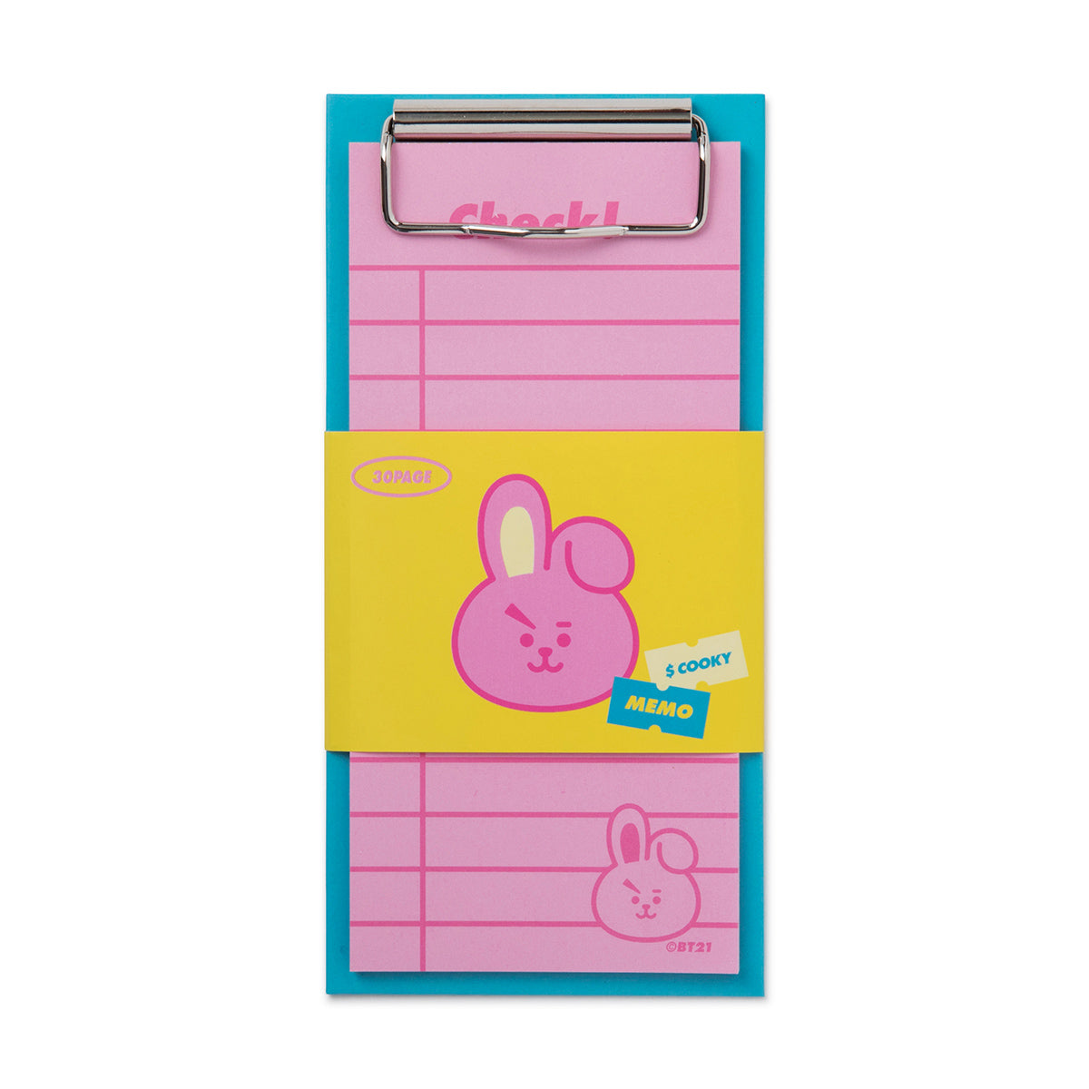 BT21 COOKY Clip board & Note Pad Set