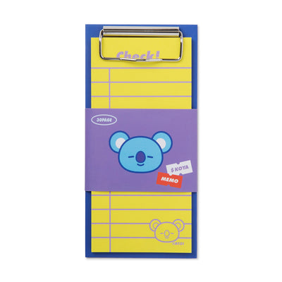 BT21 KOYA Clip board & Note Pad Set