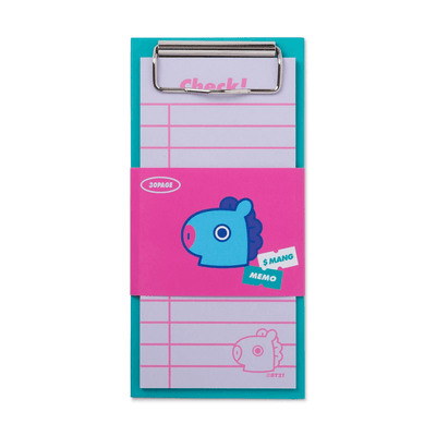 BT21 MANG Clip board & Note Pad Set