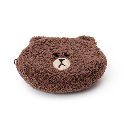 BROWN Ppogeul Pong Pong Coin Purse