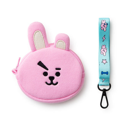 BT21 COOKY Neck Strap Coin Purse
