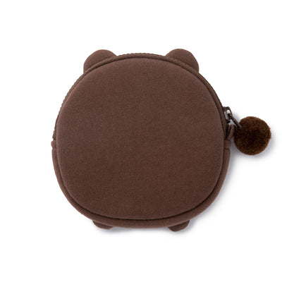 BROWN Cotton Coin Purse Bag Charm