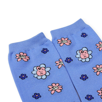 BT21 COOKY FLOWER Mid Socks 2 PC Set