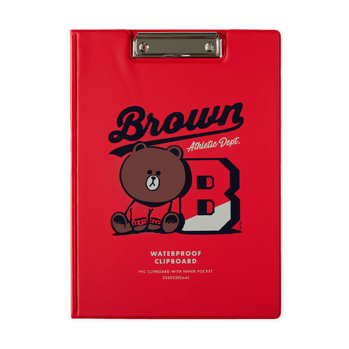 BF BROWN 20 UNIVERSITY Cover Clip Board
