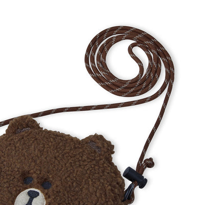 LINE FRIENDS BROWN Boucle Crossbody Bag