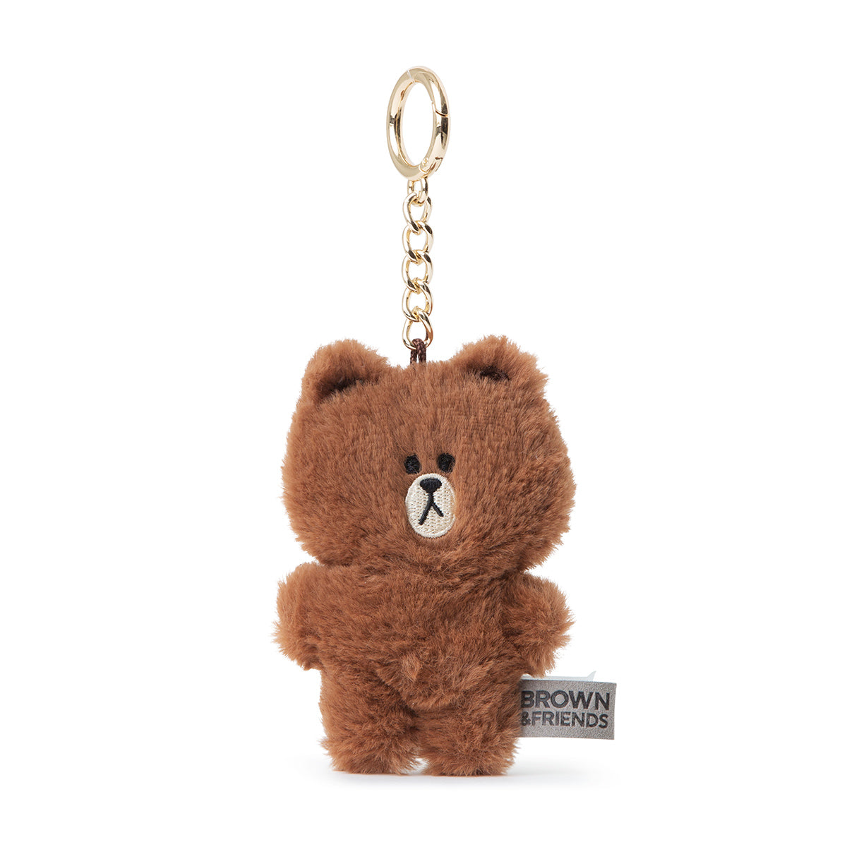 LINE FRIENDS BROWN Flat Fur Plush Bag Charm 10cm
