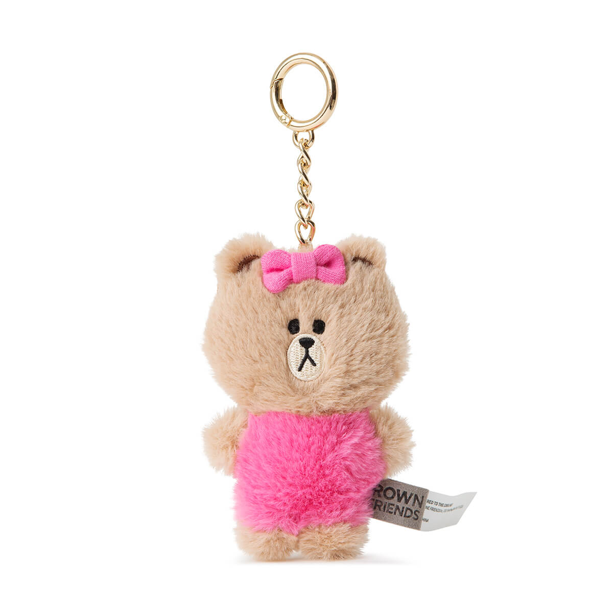 LINE FRIENDS CHOCO Flat Fur Plush Bag Charm 10cm
