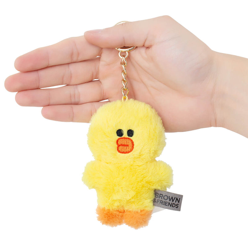 SALLY Flat Fur Plush Bag Charm 10cm