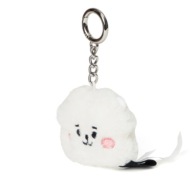 BT21 RJ Baby Flat Fur Face Doll Keyring 2.0""