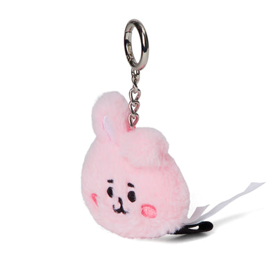 BT21 COOKY Baby Flat Fur Face Doll Keyring 2.0""