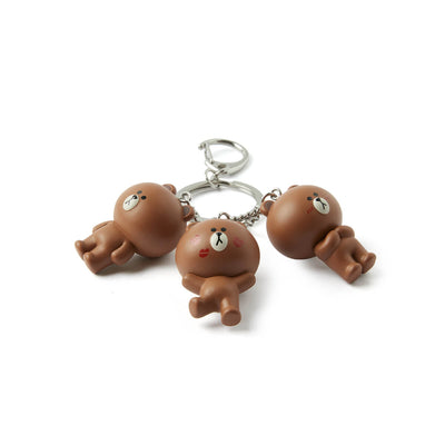 LINE FRIENDS BROWN Waggle Waggle Keyring