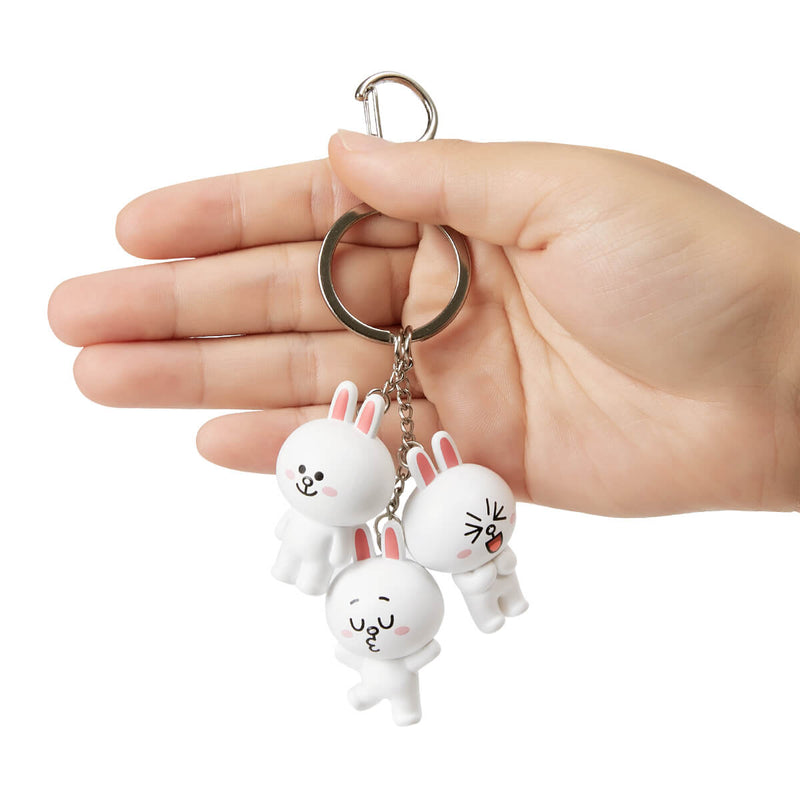 LINE FRIENDS CONY Waggle Waggle Keyring