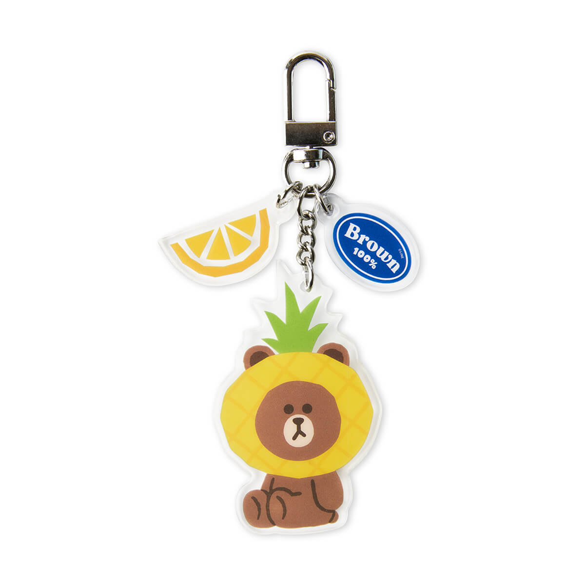 LINE FRIENDS BROWN Fruity Acrylic Keyring