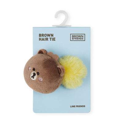 MINI BROWN Pom-pom Hair Tie