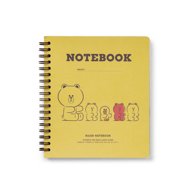 BROWN & FRIENDSHard Cover Notebook