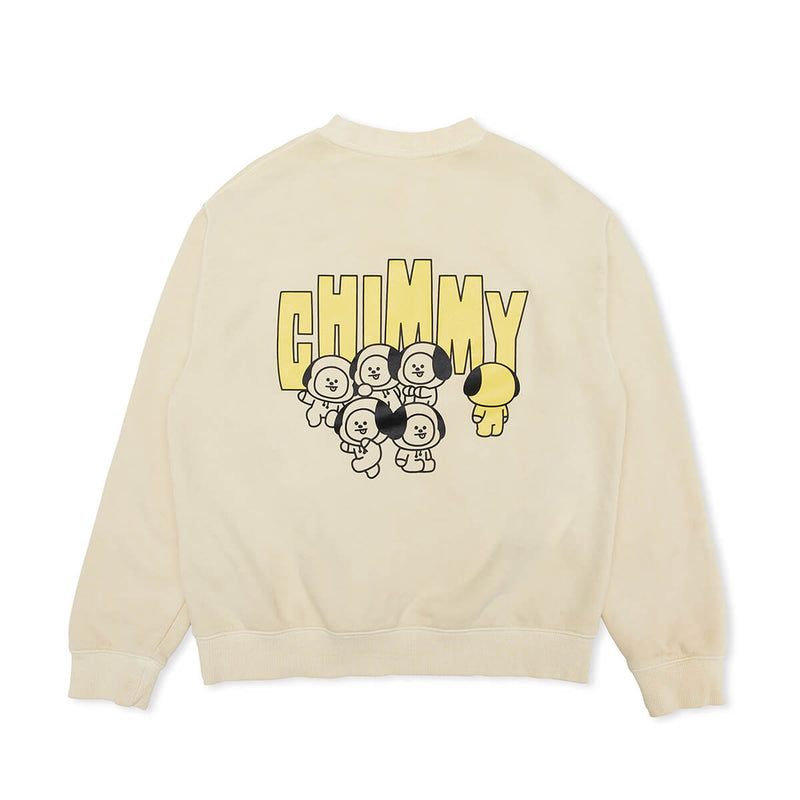 BT21 CHIMMY Garment Dyed Sweatshirt Ivory