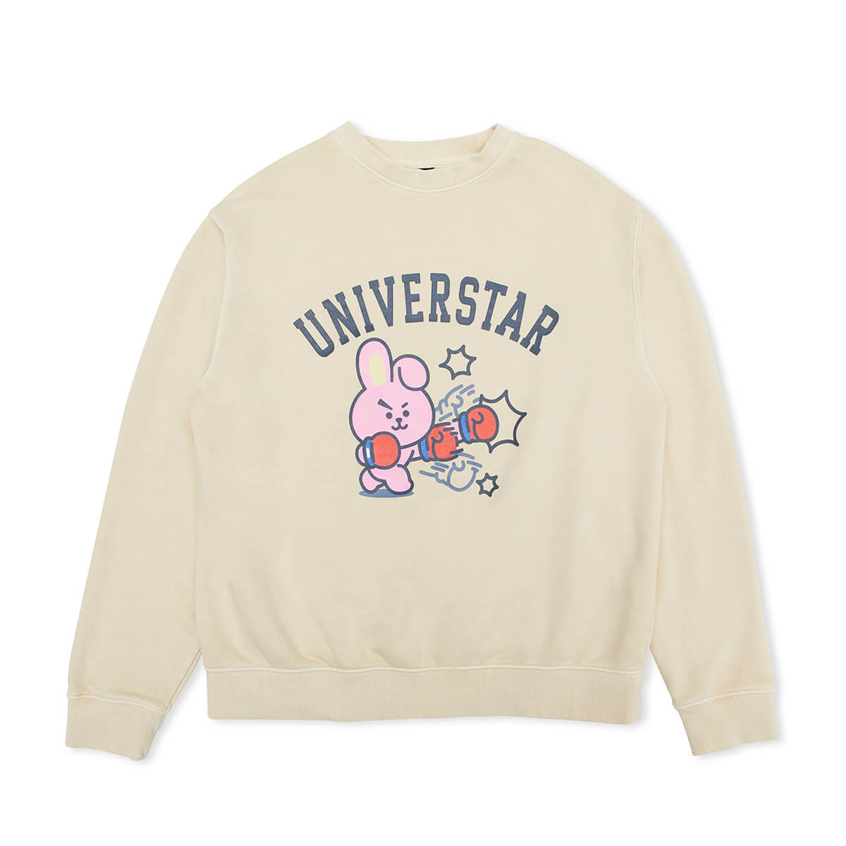 BT21 COOKY Garment Dyed Sweatshirt Ivory