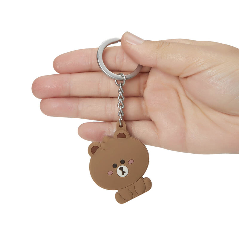 BROWN Mini Friends Silicone Key Chain