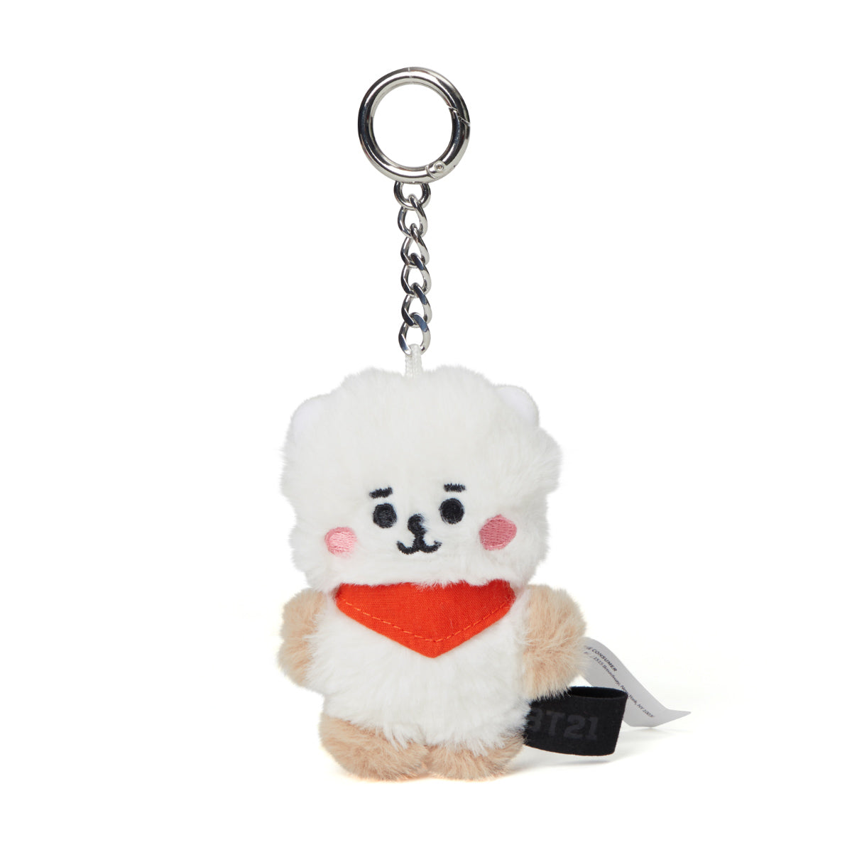 BT21 RJ Baby Flat Fur Bag Charm Plush 3.9""