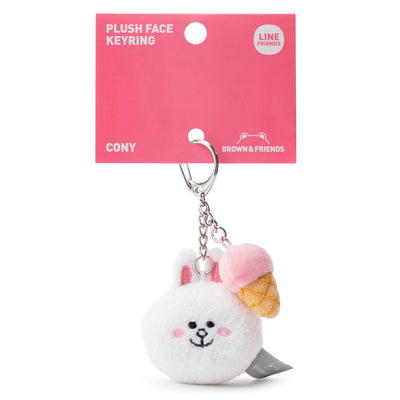 LINE FRIENDS CONY Plush Face Keyring