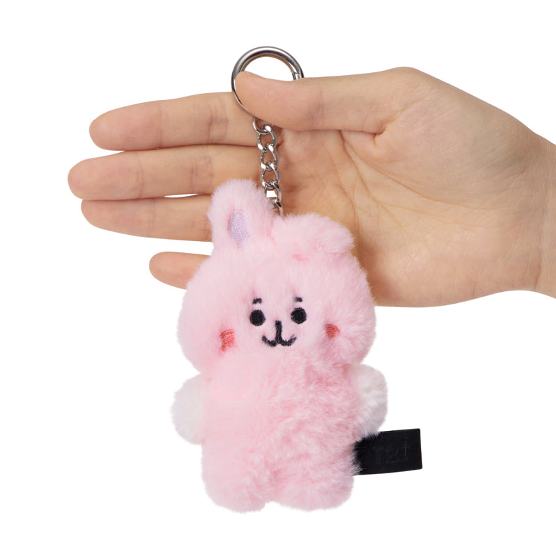 BT21 COOKY Baby Flat Fur Doll Keyring 3.9""