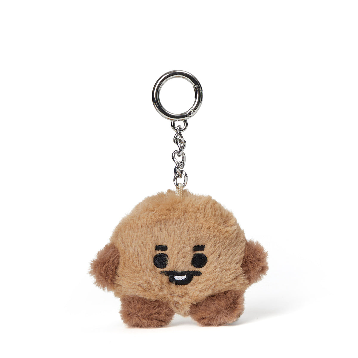 BT21 SHOOKY Baby Flat Fur Doll Keyring 3.9""