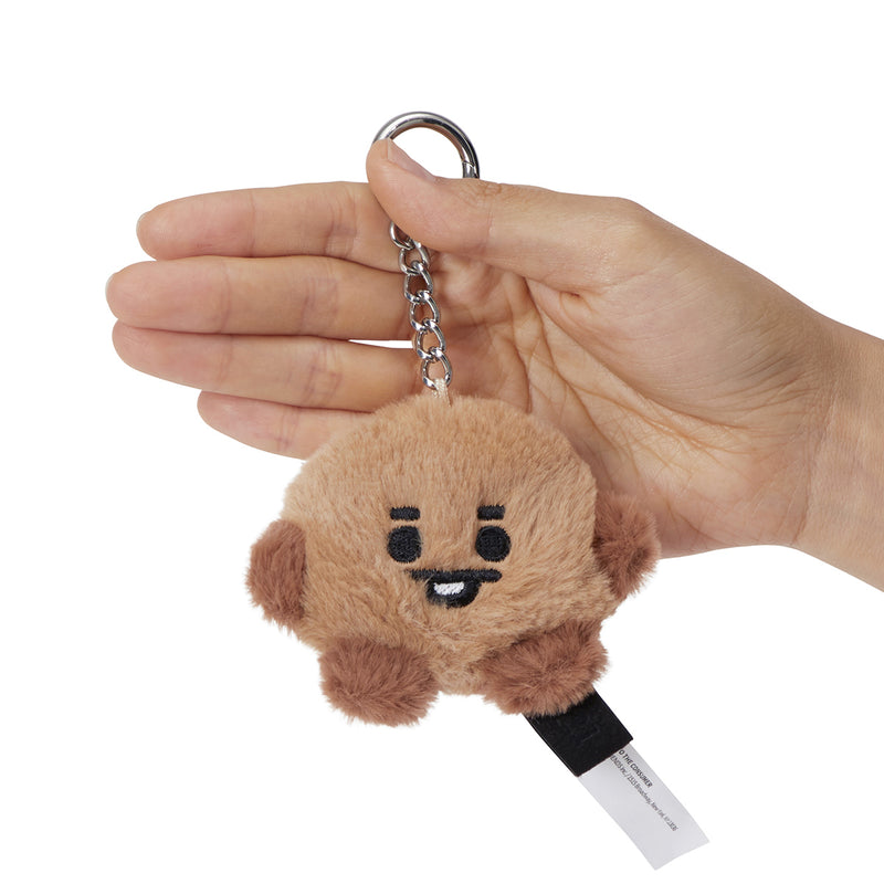 BT21 SHOOKY Baby Flat Fur Bag Charm Plush 3.9""