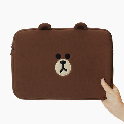 LINE FRIENDS BROWN Basic Laptop Sleeve 13""