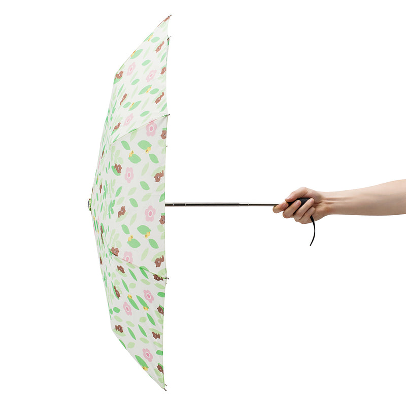 BROWN Folding Auto Umbrella