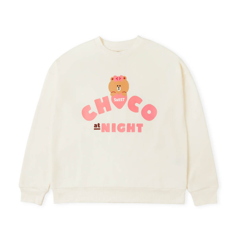LINE FRIENDS CHOCO Loungewear Set, Ivory/Pink