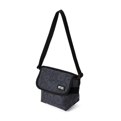 BT21 20 WAGGLE WAGGLE MESSENGER BAG Dark Grey