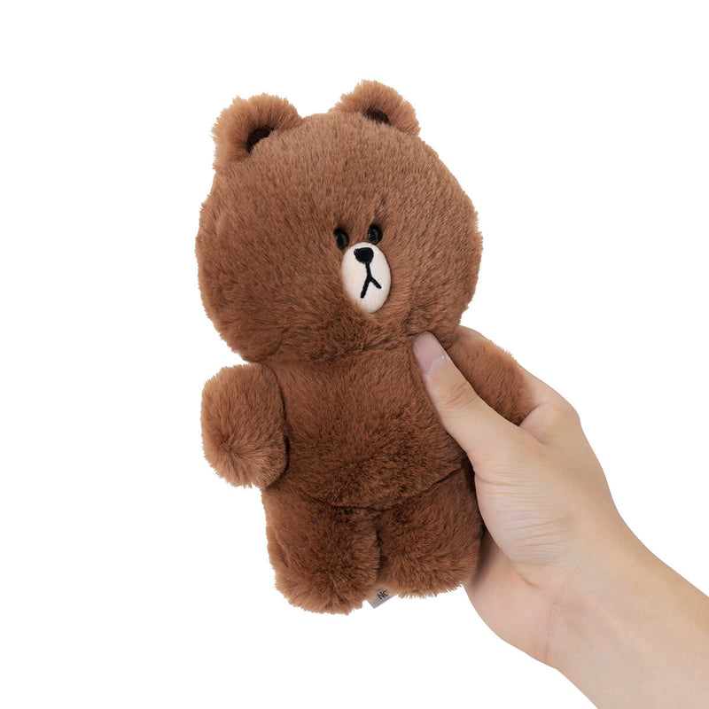 BROWN Flat Fur Standing Plush