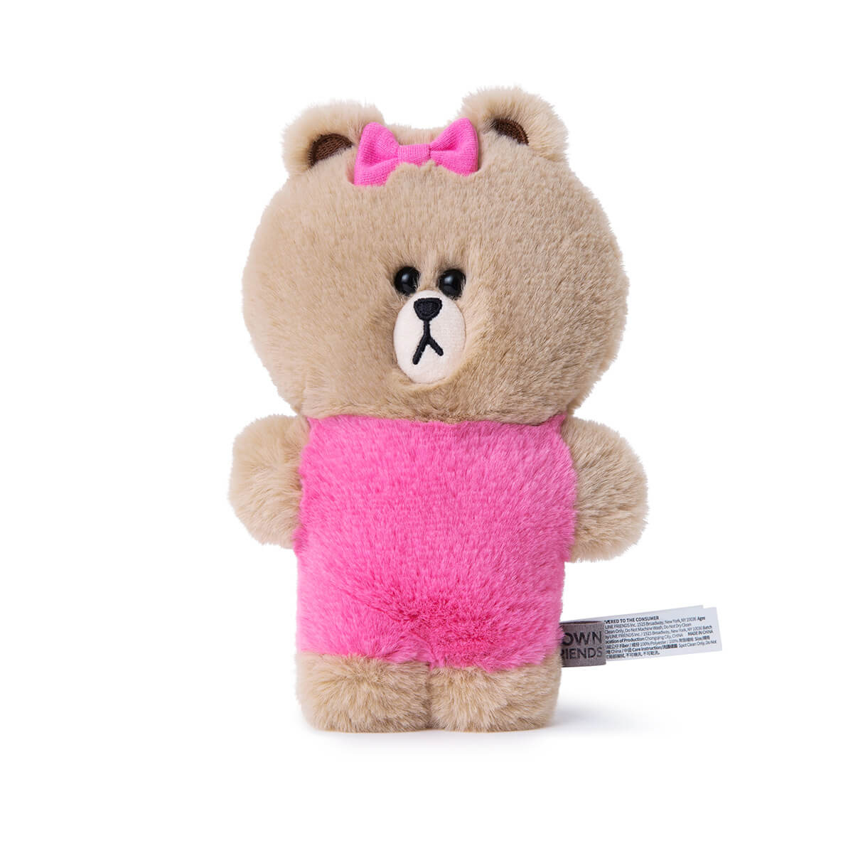 LINE FRIENDS CHOCO Flat Fur Standing Plush