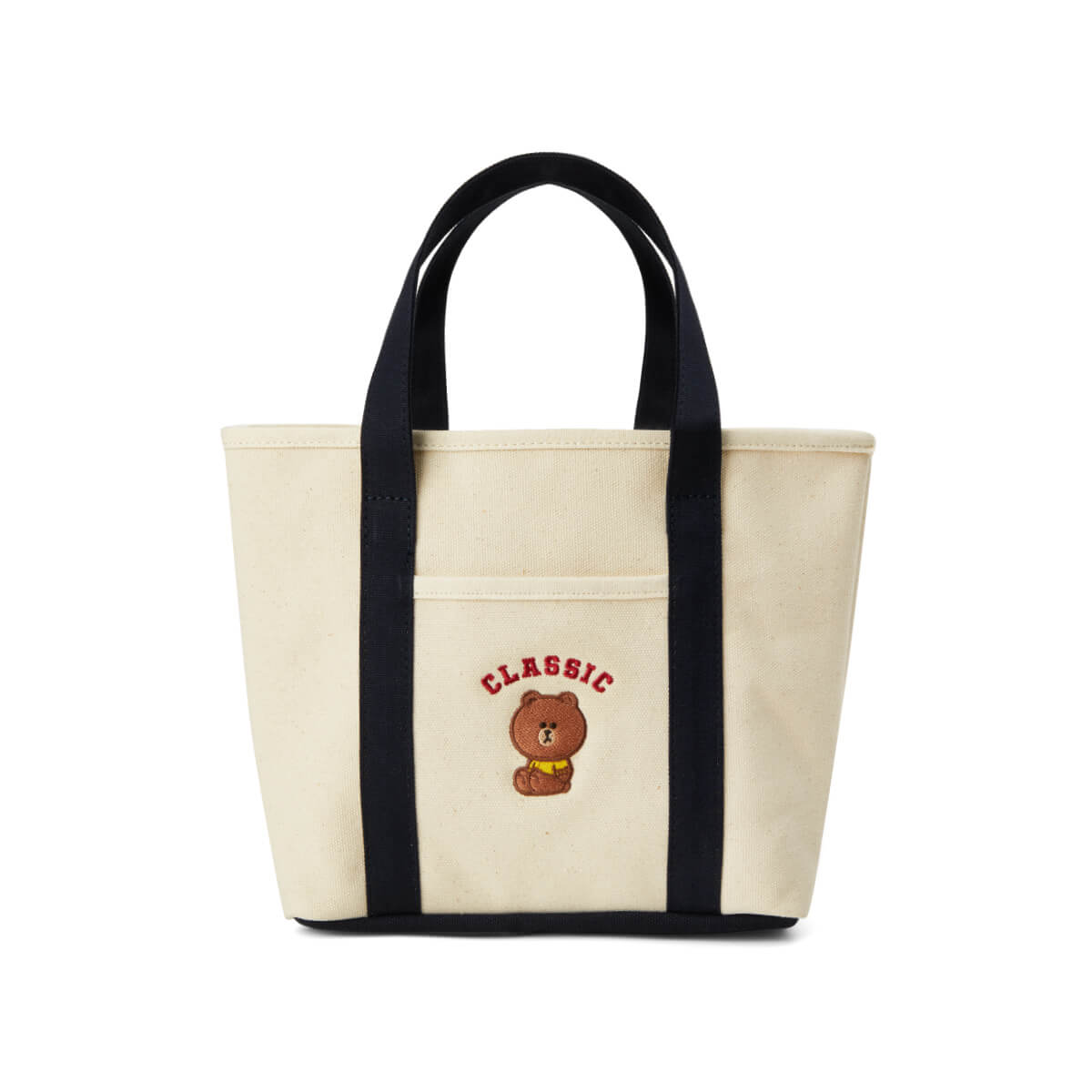 LINE FRIENDS BROWN University Tote Bag Ivory