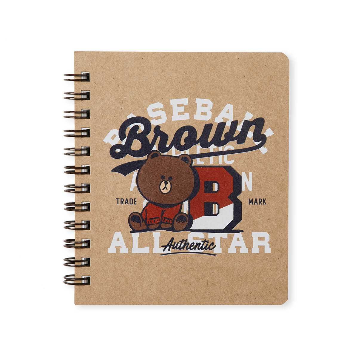 BROWN & FRIENDS University Mini Spiral Notepad