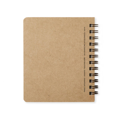 LINE FRIENDS BROWN & FRIENDS University Mini Spiral Notepad