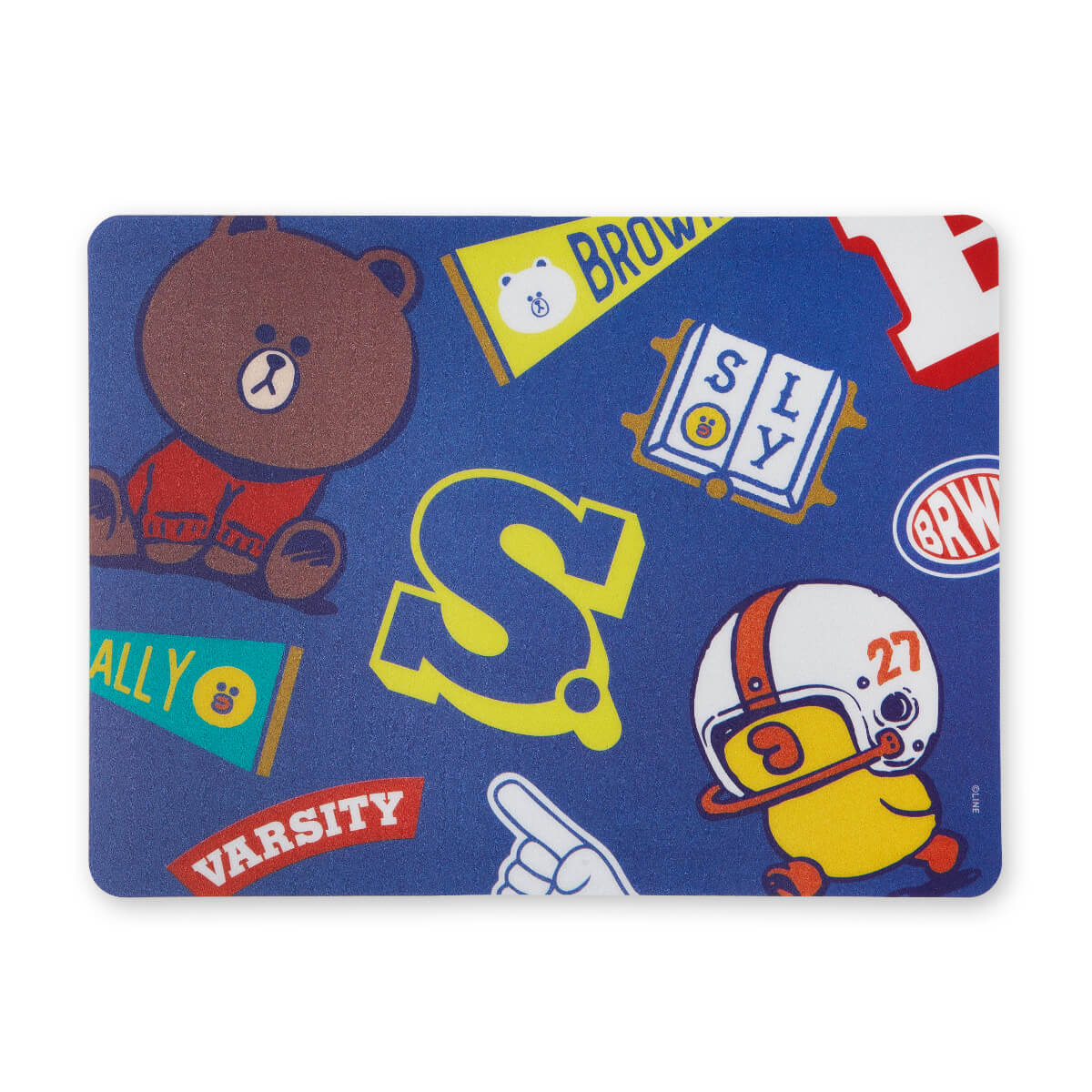 BROWN & FRIENDS University Mouse Pad Blue