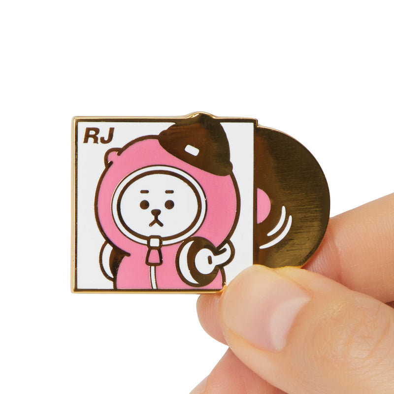 BT21 RJ Music Metal Badge