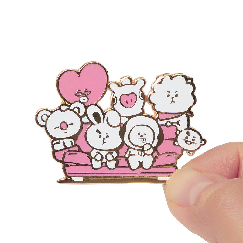BT21 CHARACTERS Music Metal Badge