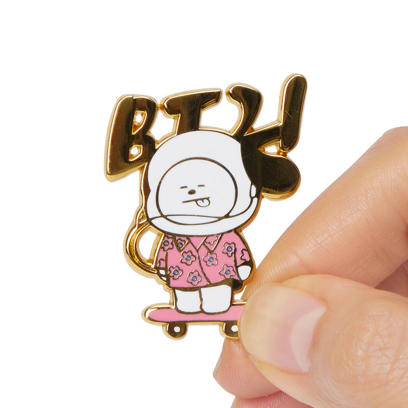 BT21 CHIMMY Music Metal Badge