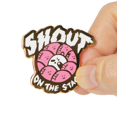 BT21 SHOOKY Music Metal Badge