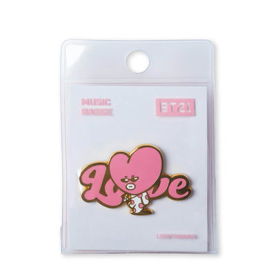 BT21 TATA Music Metal Badge
