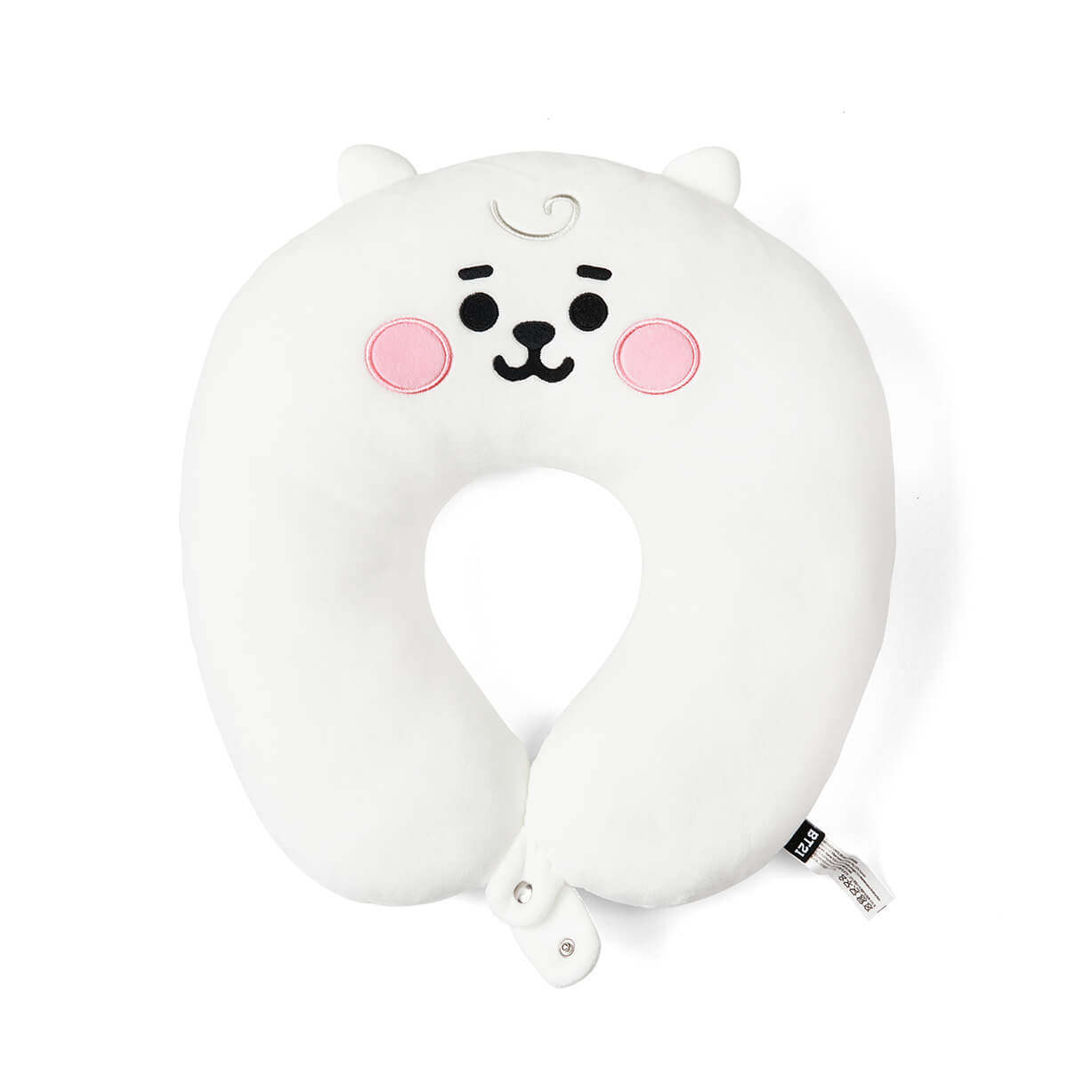 BT21 RJ BABY Travel Neck Pillow w/ Snap Fastener