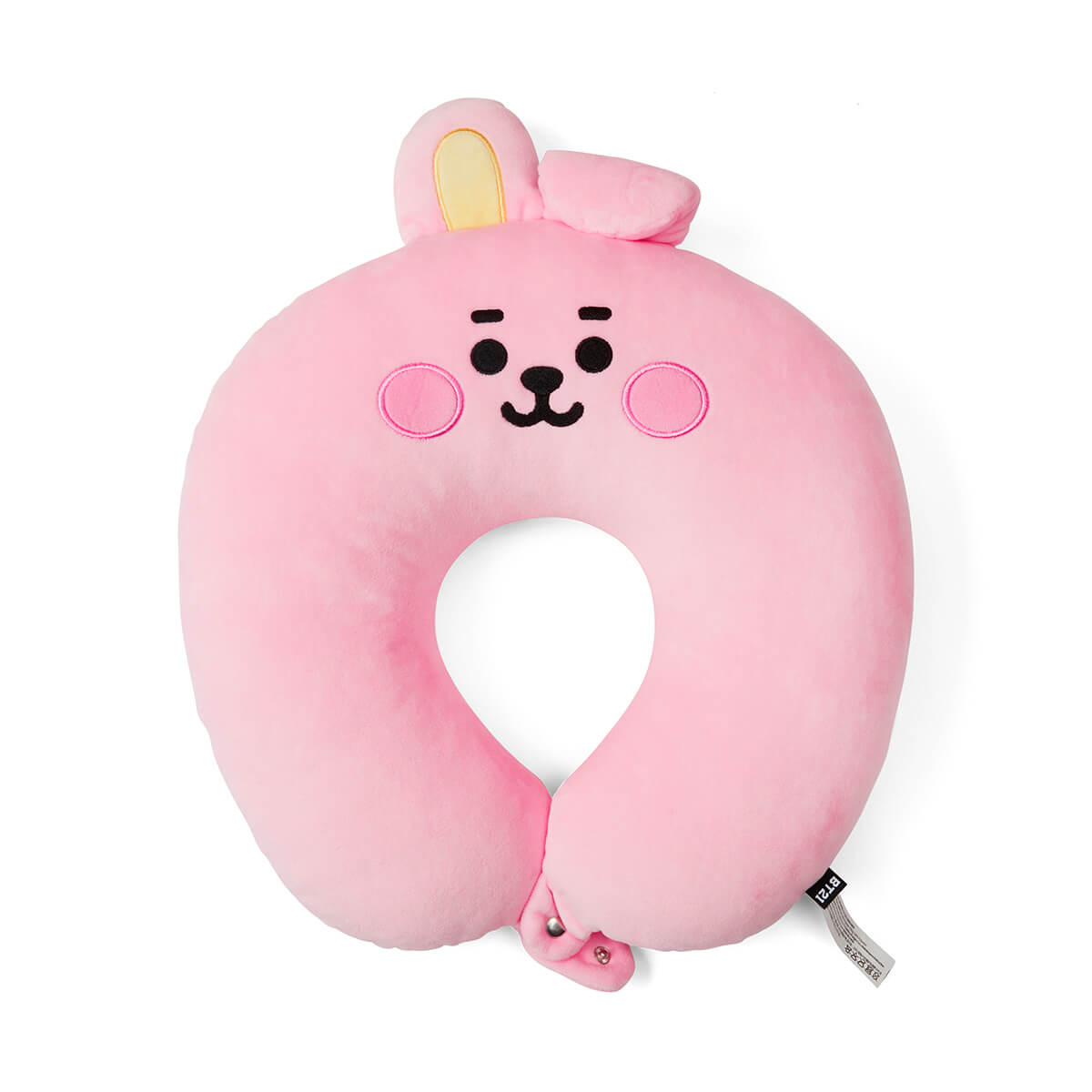BT21 COOKY BABY Travel Neck Pillow w/ Snap Fastener