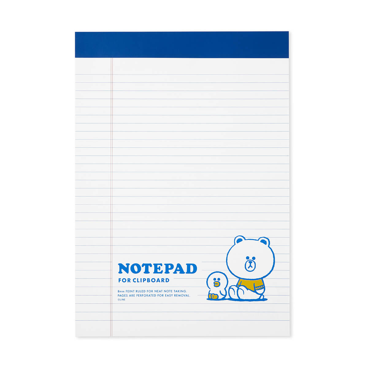 BROWN & FRIENDS University A4 Notepad White
