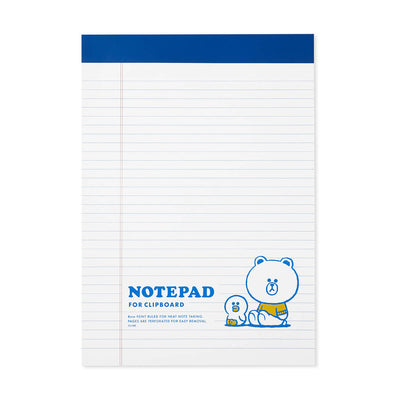 LINE FRIENDS BROWN & FRIENDS University A4 Notepad White