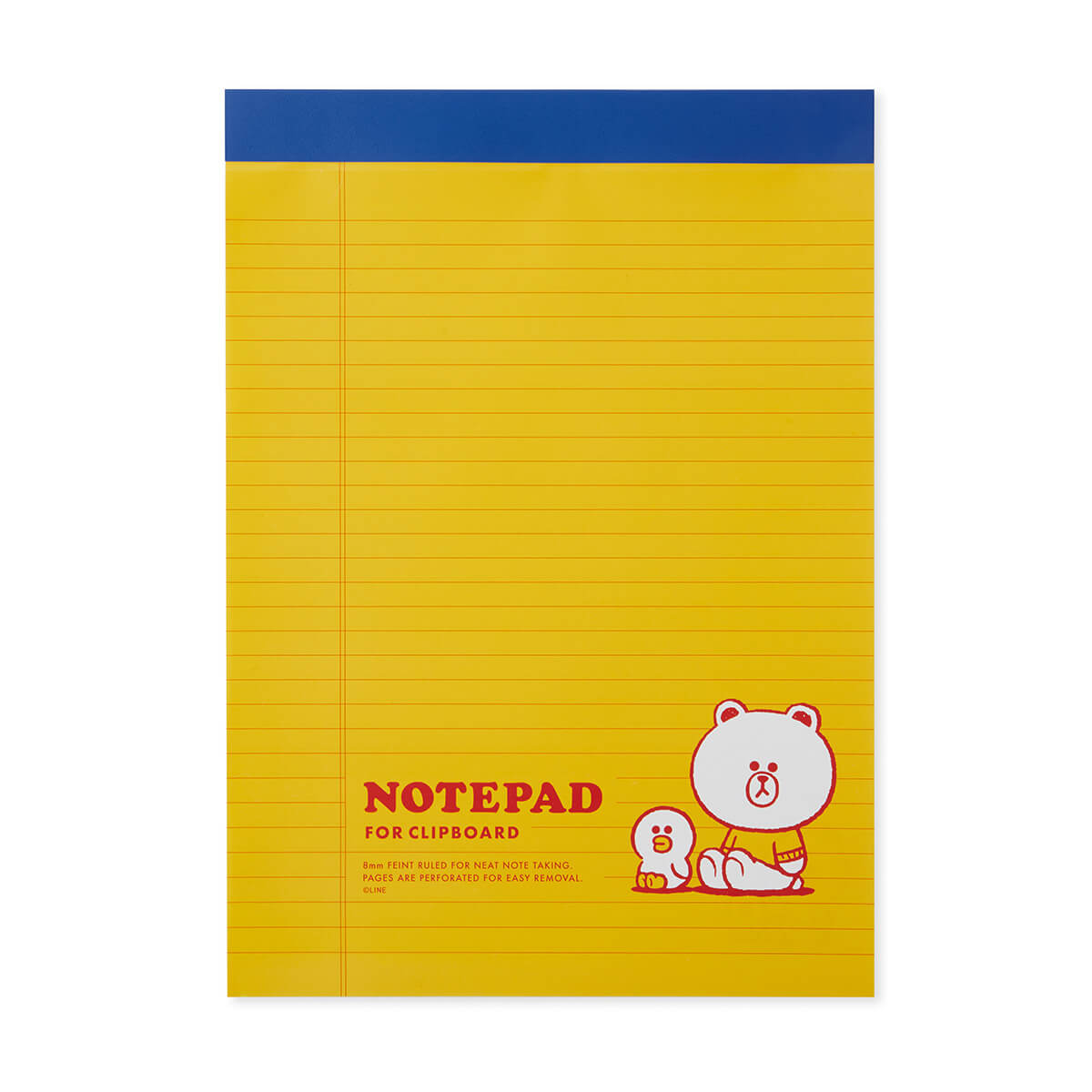 LINE FRIENDS BROWN & FRIENDS University A4 Notepad Yellow