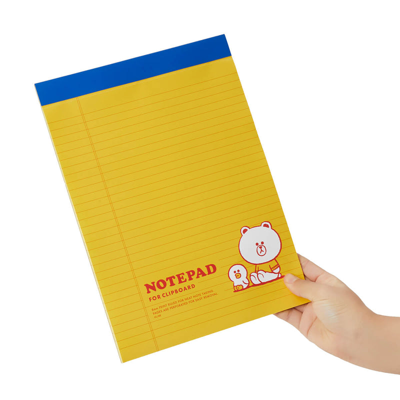 BROWN & FRIENDS University A4 Notepad Yellow