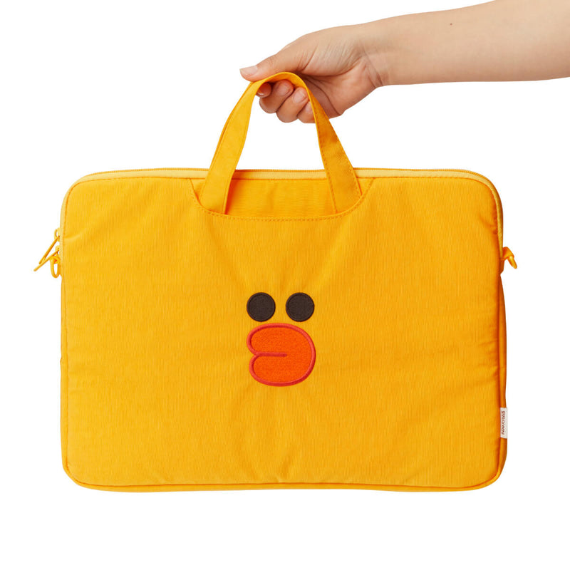 LINE FRIENDS BROWN & FRIENDS SALLY Washed Nylon Laptop Bag w/ Handle 13""