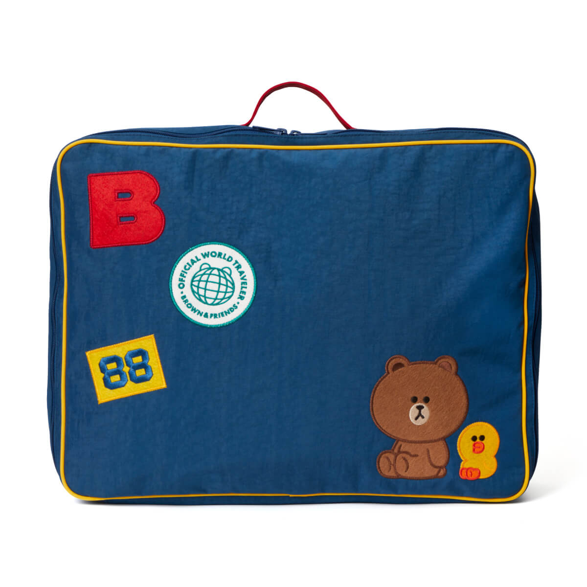 LINE FRIENDS BROWN & SALLY Washed Nylon Travel Bag (L)